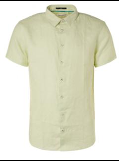 No Excess Overhemd Korte Mouwen Linnen Lime Groen (11420364 - 056)