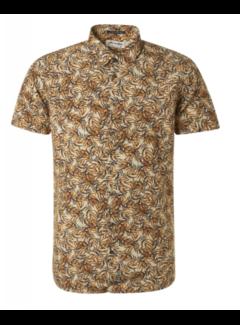 No Excess Overhemd Korte Mouwen Print Sun Geel (11420378 - 190)