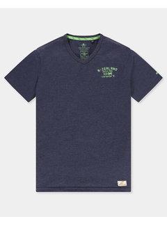 New Zealand Auckland T-shirt V-hals Te Puke Navy (21CN713 - 281)