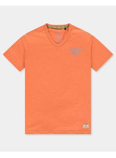 New Zealand Auckland T-shirt V-hals Te Puke Orange Pepper (21CN713 - 607)