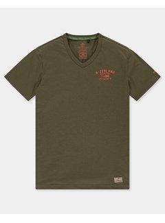 New Zealand Auckland T-shirt V-hals Te Puke Aukland Army (21CN713 - 500)
