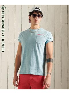 Superdry T-shirt LA Beach Pocket Sky Blue (M1011010A - 8H7)