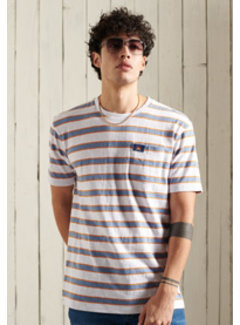 Superdry T-shirt Gestreept Relaxed Fit Optic (M1010895A - YJF)