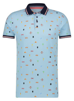 A Fish Named Fred Polo Festival items Light Blue (22.03.318)