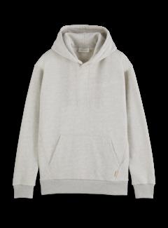 Scotch & Soda Hooded Sweater Relaxed Fit Felpa Grey Melange (163941 - 0606)