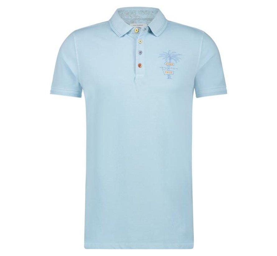 Polo garment dye Light Blue (22.03.307)