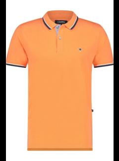Haze&Finn Polo Korte Mouw Oranje (MUC15 - 0300 - MUSK MELON)