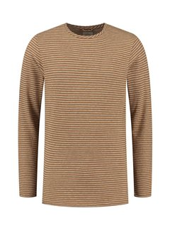 Dstrezzed Longsleeve T-shirt Zig Zag Streep Argan Oil (202702 - 412)