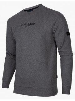 Cavallaro Napoli Sweater Vallone Grey Melange (120215000 - 950000)N