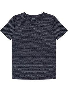 Dstrezzed Dstrezzed T-shirt Gestreept Navy (202354 - 635)