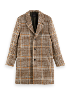 Scotch & Soda Coat Wool Blend Check Beige (163276 - 0217)