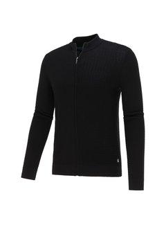 Blue Industry Vest Cardigan Structuur Black (KBIW21 - M3 - Black)