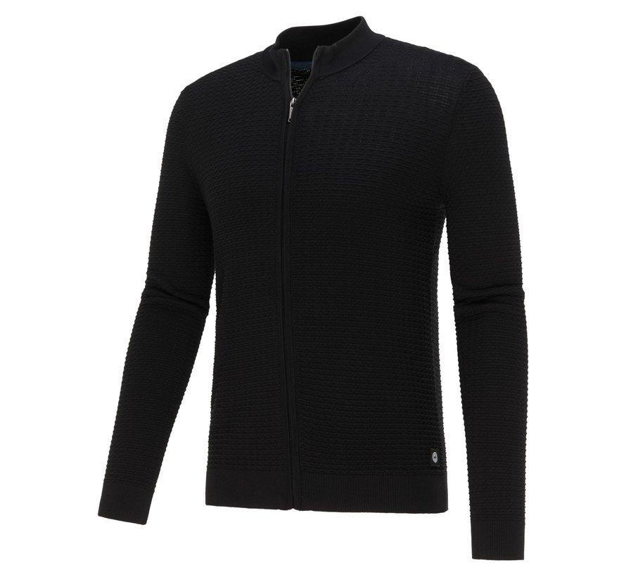 Vest Cardigan Structuur Black (KBIW21 - M3 - Black)