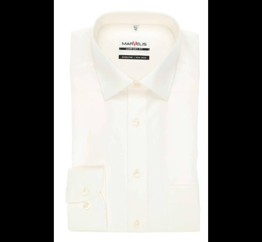 strijkvrij overhemd comfort fit Ecru (7973-64-20N)