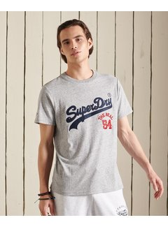 Superdry T-shirt Source Athletic Grey Melange (M1011158A - ZUC)