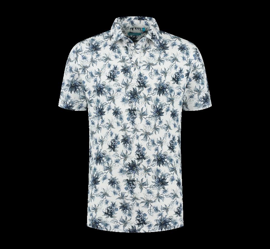 Polo Bloemen Blauw (7.11.401.408 - 326)