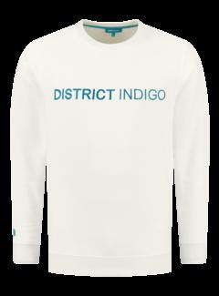 District Indigo Sweater Wit (7.12.300.305 - 007)