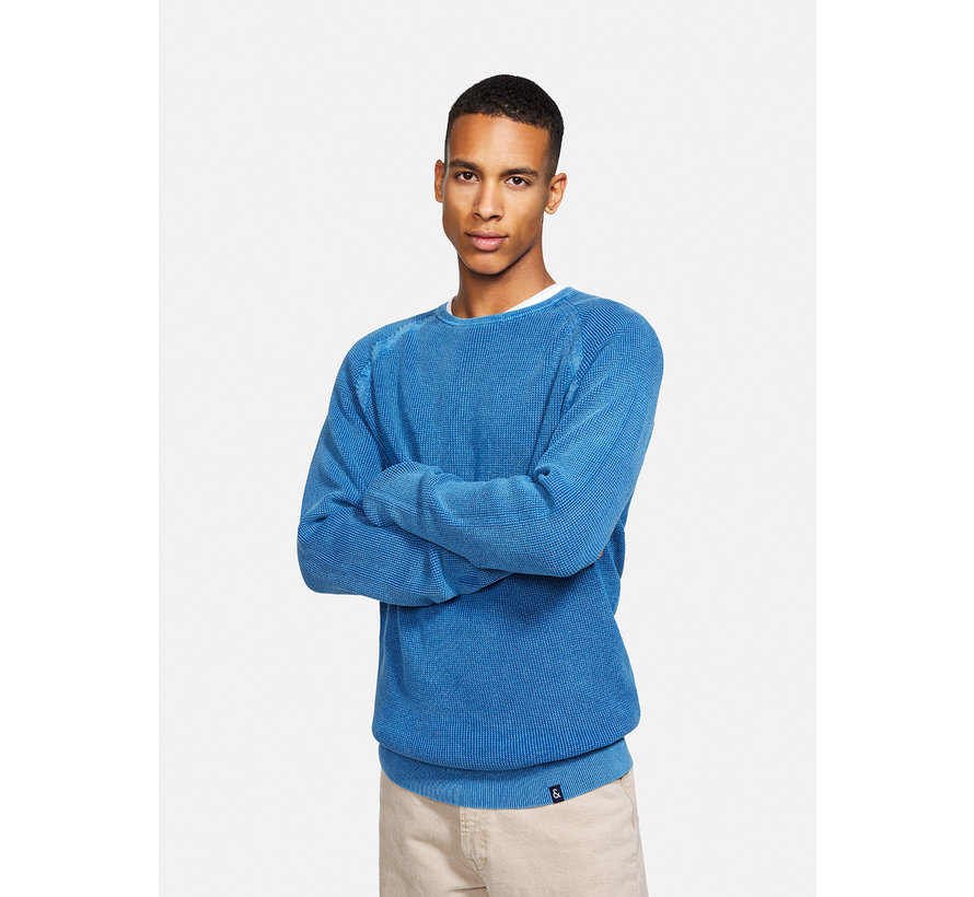Pullover Ronde Hals Faded Navy Blauw (9221 - 101 - 625)