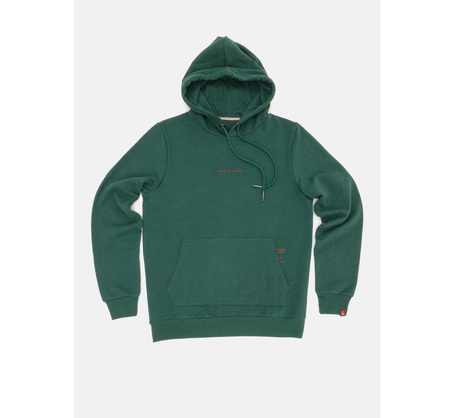 Hooded Sweater Donker Groen (9221 - 450 - 499)
