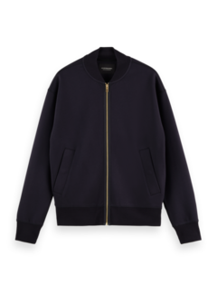 Scotch & Soda Bomber Sweat Relaxed Fit Navy Blauw (163921 - 0002)