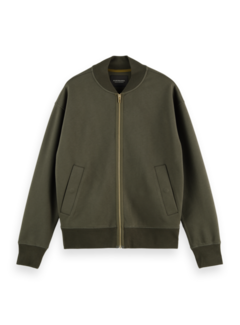 Scotch & Soda Bomber Sweat Relaxed Fit Olijf Groen (163921 - 0456)