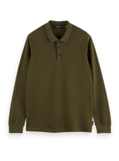Scotch & Soda Polo Lange Mouw Uniform Groen (163993 - 4316)