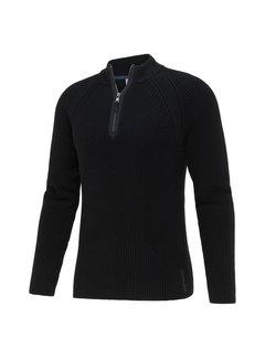 Blue Industry Pullover Half-Zip Structuur Zwart (KBIW21 - M9 - BLACK)