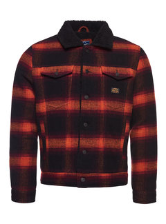 Superdry Jas Wol Sherpa Ruit Rood (M5011109A - 4UU)