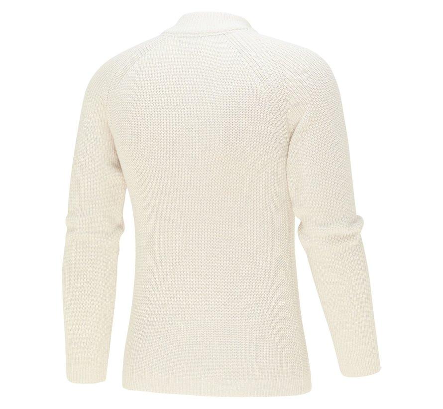 Pullover Half-Zip Structuur Off White (KBIW21 - M9 - Off White)