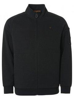 No Excess Vest Double Layer Jacquard Zwart (12100824SN - 020)