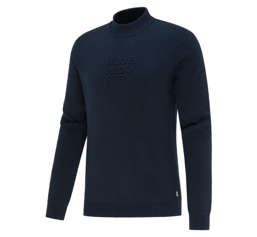 Sweater Met Logo Navy Blauw (KBIW21 - M6 - NAVY)