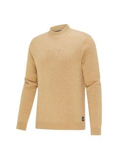 Blue Industry Sweater Met Logo Camel Bruin (KBIW21 - M6 - CAMEL)