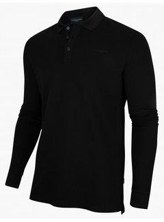 Cavallaro Napoli Longsleeve Polo Placido Stretch  Black (116215003 - 999000)