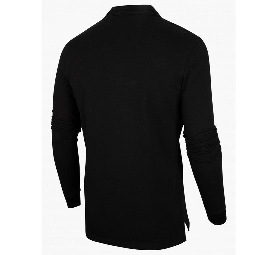 Longsleeve Polo Placido Stretch  Black (116215003 - 999000)