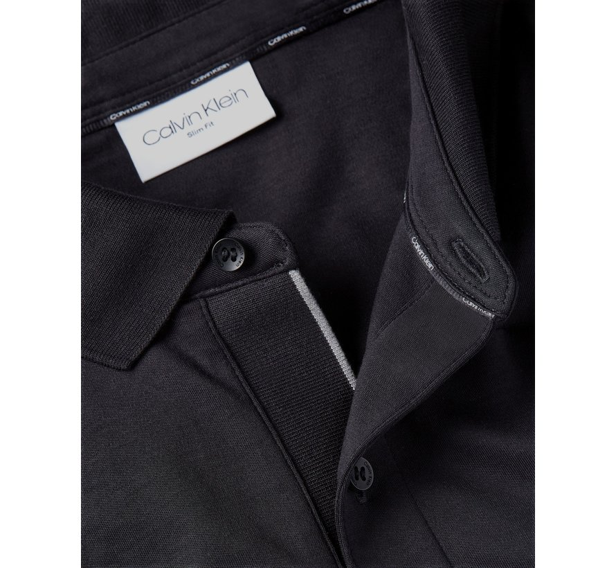 Longsleeve Polo Slim Fit Liquid Touch Zwart (K10K107091 - BEH)