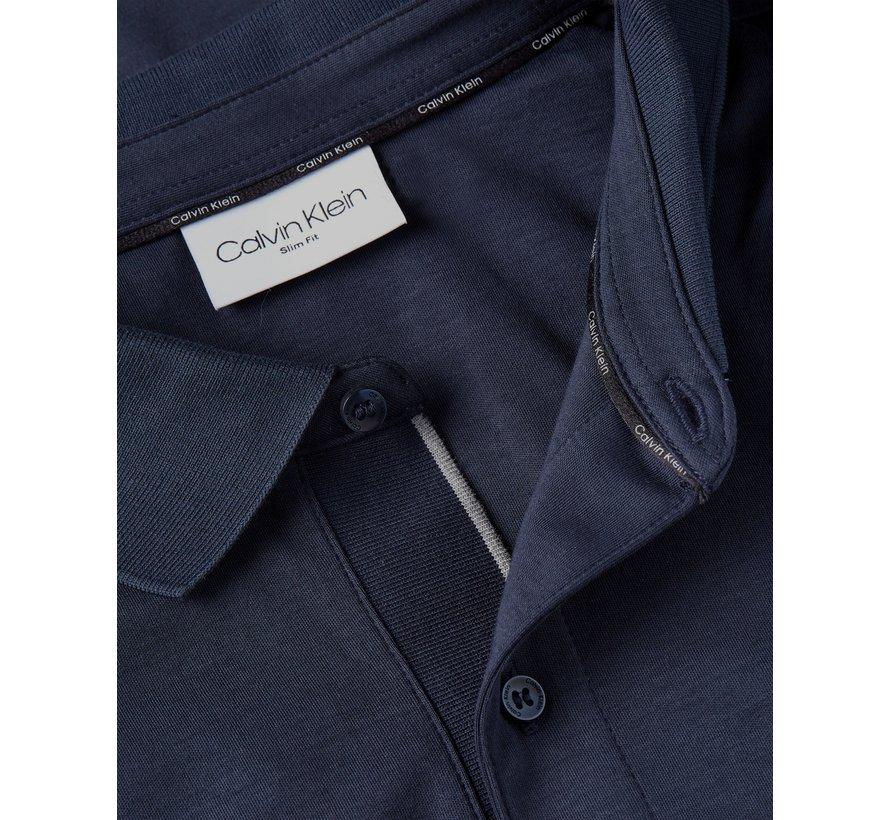 Longsleeve Polo Slim Fit Liquid Touch Navy (K10K107091 - DW4)