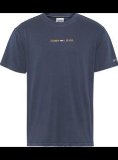 Tommy Hilfiger T-shirt Metallic Logo Navy (DM0DM11608 - C87)