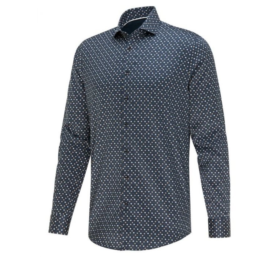 Overhemd 24/7 Stretch Print Blauw (2423.22)