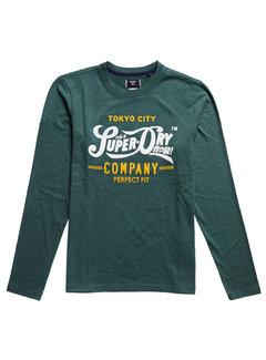 Superdry T-shirt Lange Mouw Groen (M6010571A - R6T)