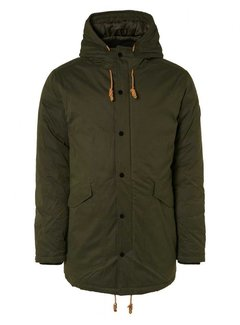 No Excess Winterjas Long Fit Hooded Moss Green (12630812 - 152)