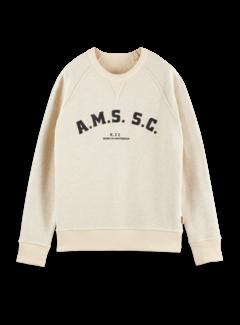 Scotch & Soda Sweater Reverseble Varsity Artwork Ecru Melange (163924 - 0171)