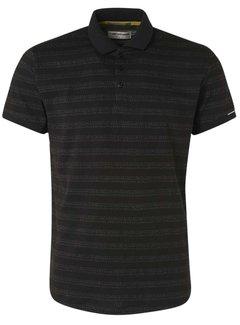 No Excess Polo Korte Mouw 2 Coloured Jacquard Black (11370351 - 020)