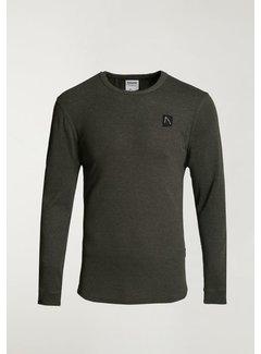 CHASIN' T-shirt Lange Mouw DAMIAN PLUS Army Groen (5.111.213.039 - E50)