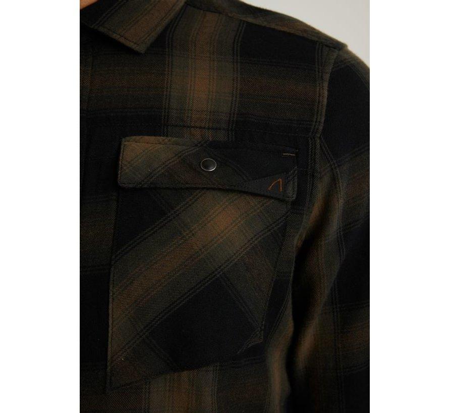 Overhemd Ruit BLEAK Army Groen (6.111.237.010 - E50)