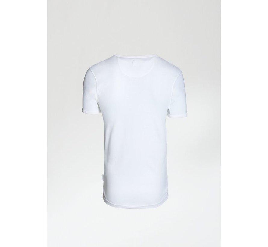 T-shirt V-Hals CAVE-B Wit (5212.400.012 - E10)