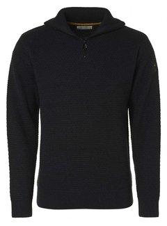 No Excess Half-Zip Sweater Structuur Night (12230904SN - 078)
