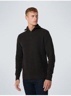 No Excess Half-Zip Sweater Structuur Coffee (12230904SN - 196)