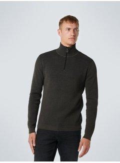 No Excess Half-Zip Sweater Mud (12230911 - 149)