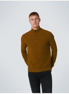 No Excess Half-Zip Button Sweater Olive (12230925 - 055)