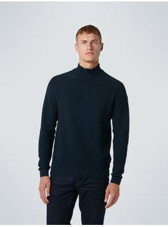 No Excess Half-Zip Button Sweater Night (12230925 - 078)
